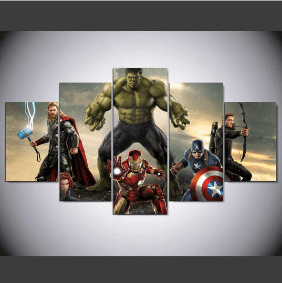 Movie Super Hero Avengers Marvel Canvas Wall Art Customized Canvas Art Living Room Art Painting Canvas Wall Art