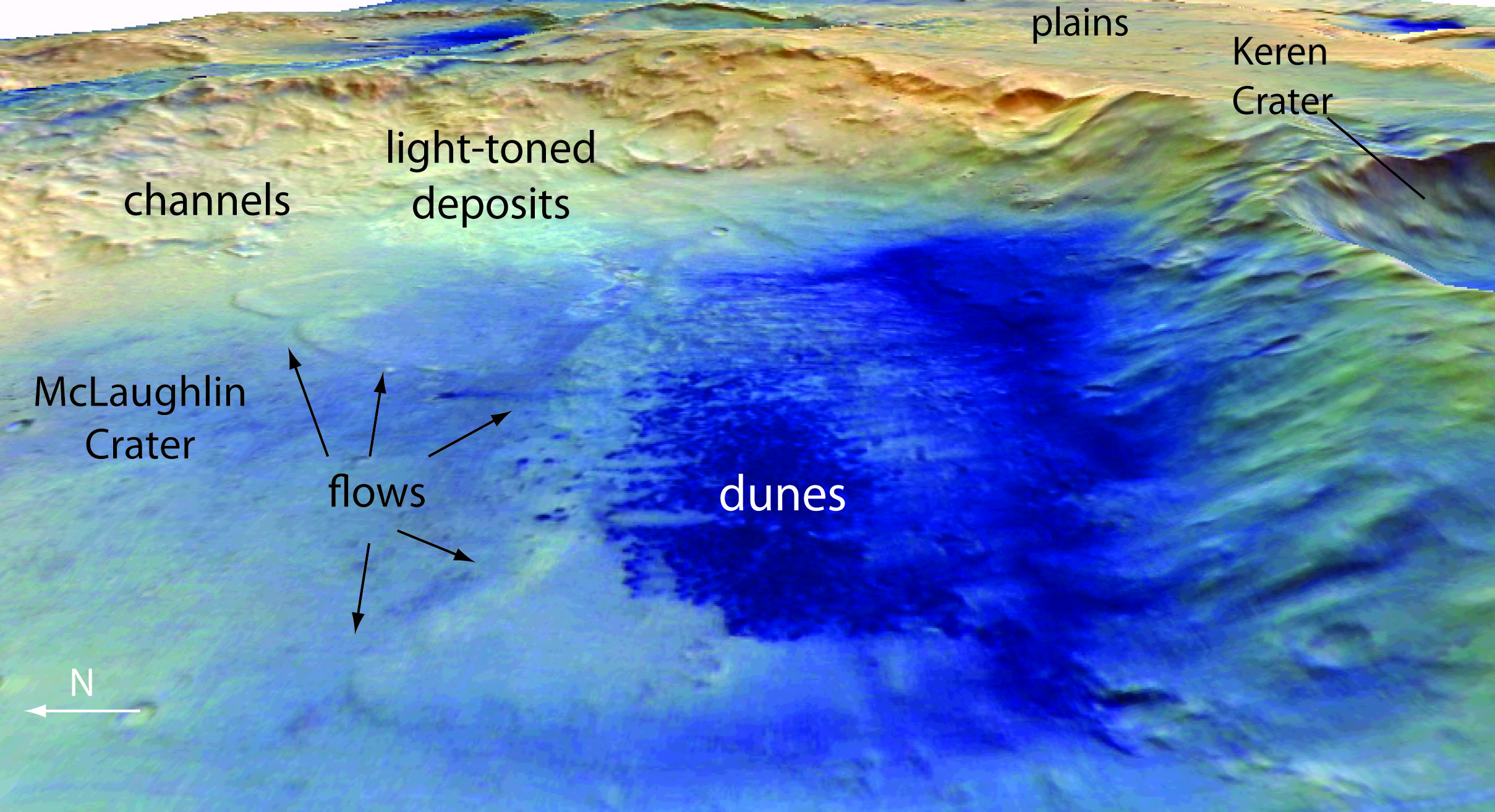 Giant Mars Crater Shows Evidence Of Ancient Lake Water On Mars The Martian Planetary Science
