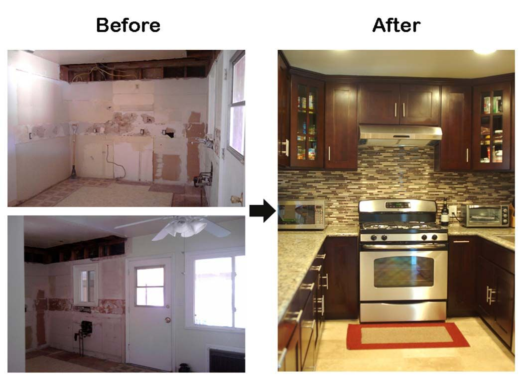 Older model mobile home makeover before and after before for Old home kitchen remodel
