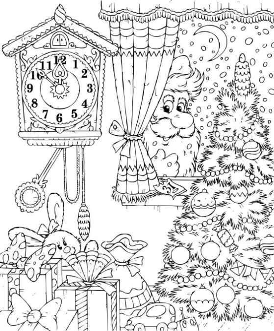 adult coloring book christmas reduce stress relax increase focus boost creativity