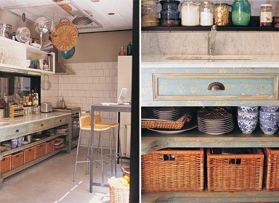 Cocinas carrara ps and tapas - Muebles con cajones de mimbre ...