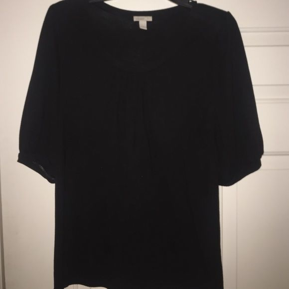 2 Black dress shirts First shirt is a Large and second one is a medium. Worn a handful of times. Both shirts are old navy Old Navy Tops Blouses