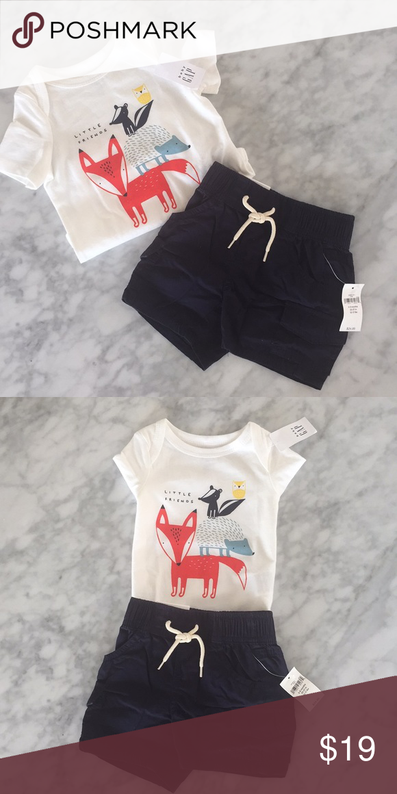 6589ff094d16 NWT 2 piece boy bundle shirt , shorts size 3-6 m NWT baby Gap boy 2 piece  bundle . No flaws or stains new condition shorts size 3/6 months shirt size  3/6 ...