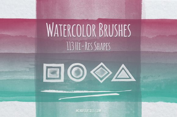 113 Hi-Res Watercolor Brushes ~ Brushes on Creative Market