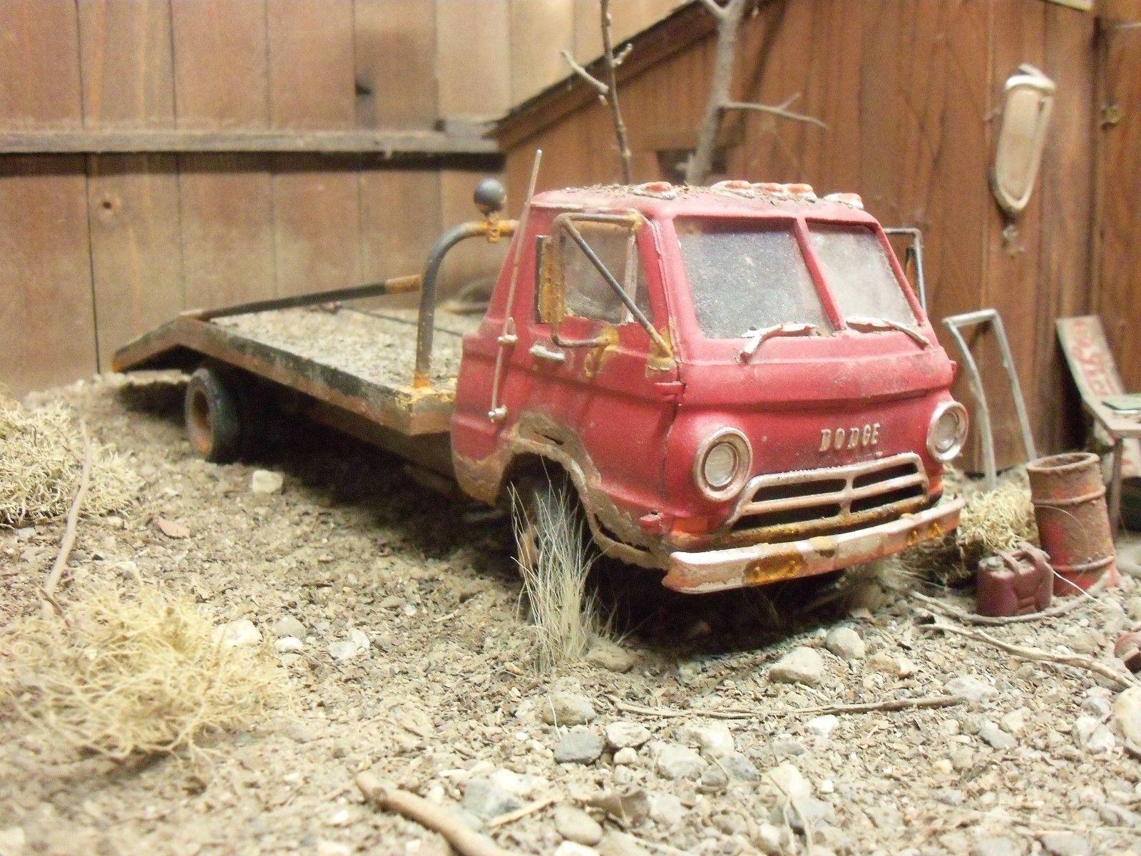 Lindberg 1965 65 dodge little red wagon junkyard diorama 1 ...