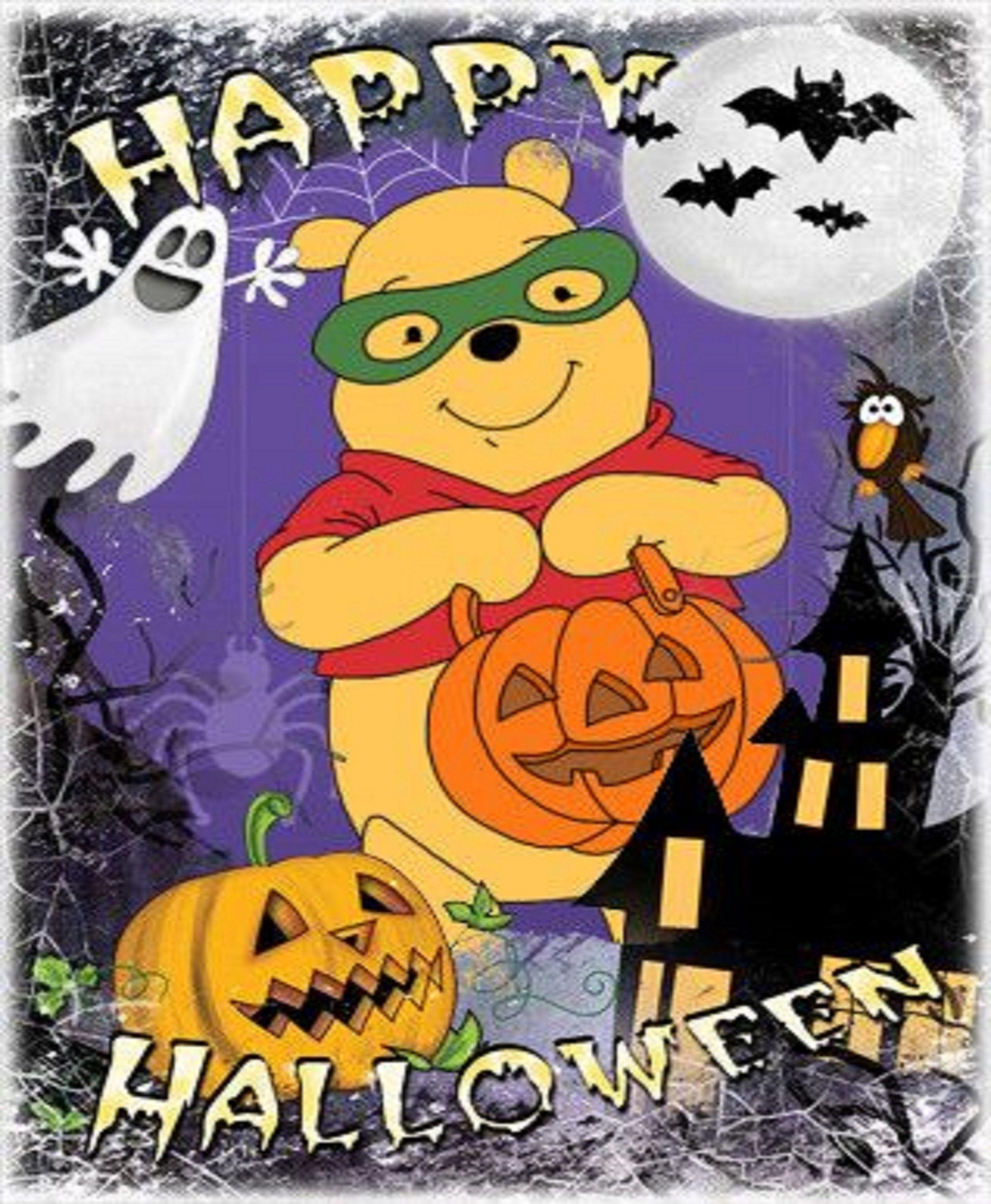 Winnie The Pooh Happy Halloween Print Art Print Nursery Decor For