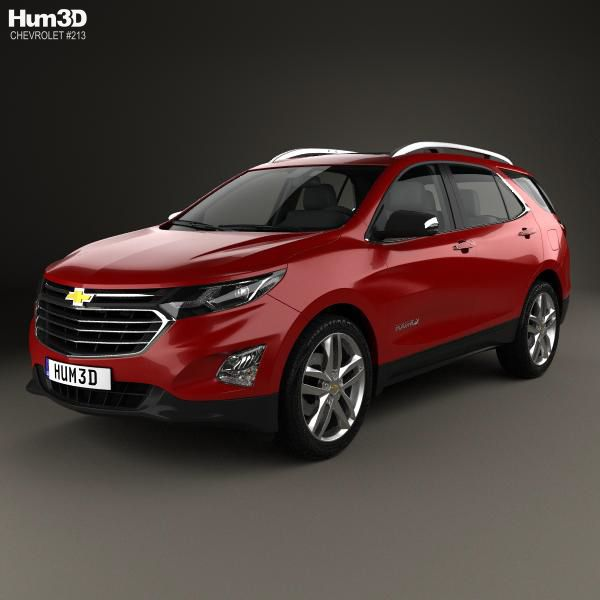 Chevrolet Equinox Suv: Chevrolet Equinox Premier 2018 3d Model From Hum3d.com