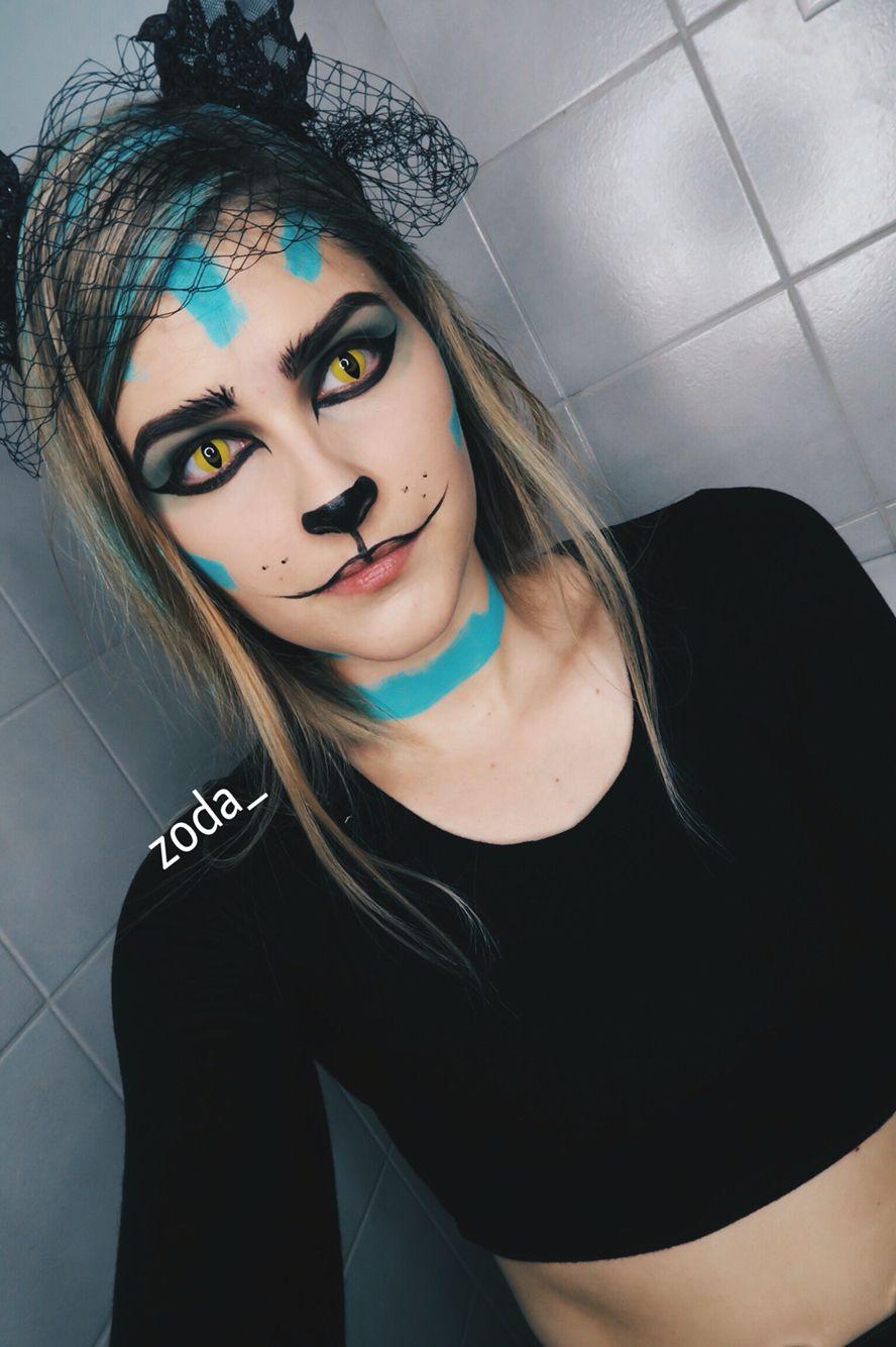 halloween cheshire cat, #cheshirecatmakeup alice in wonderland dress