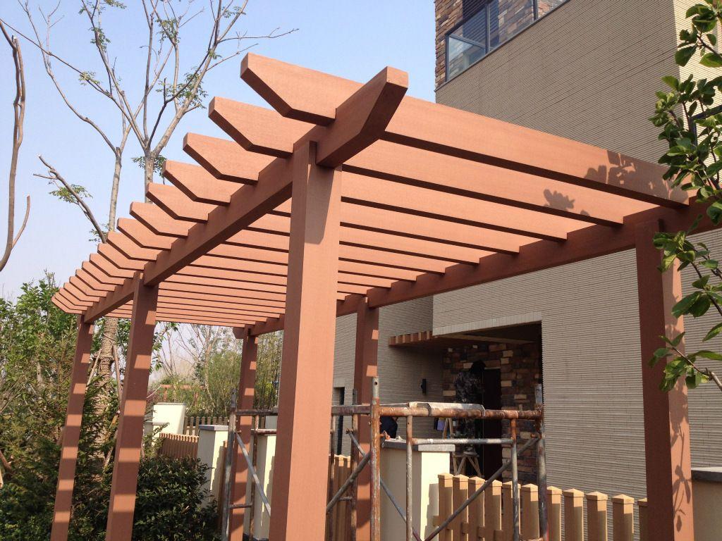 Reverse Curve Pergola Manufacturer Plastic Wood Planks