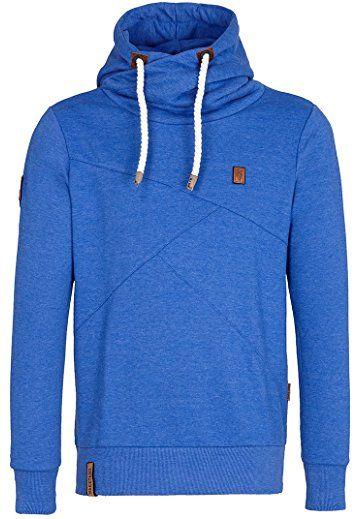 Naketano Men's Hoodie Lennox V (XL, Lecker Blau Melange