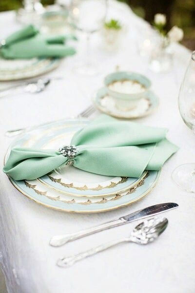 Indian Weddings Inspirations. Green Tablescapes. Repinned by #indianweddingsmag indianweddingsmag.com