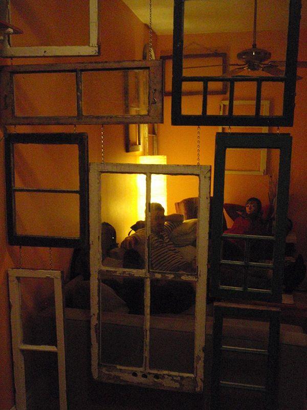 Hanging A Grid Of Antique Window Frames