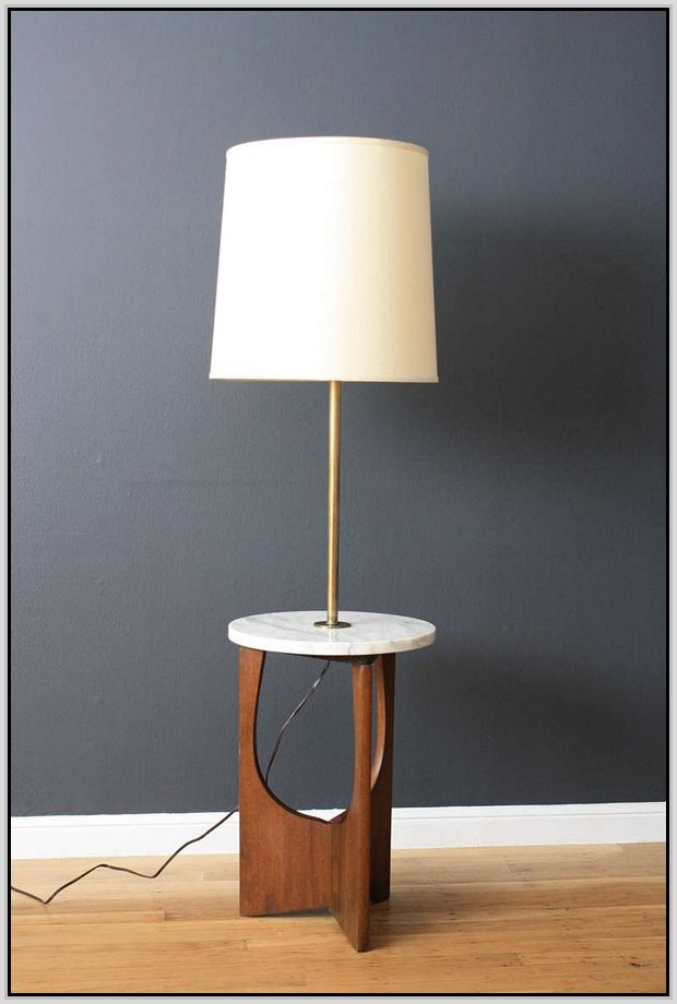 floor lamp with table attached Google