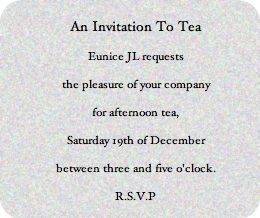 Victorian Tea Party Invitation Wording Ideas Sayings Afternoon Invitations Are Handwritten On