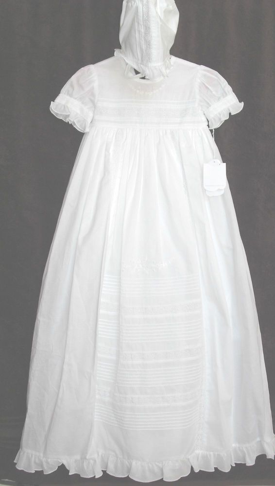 New NWT $176 Kissy Kissy Besos Nicole Christening Baptism Gown Dress ...