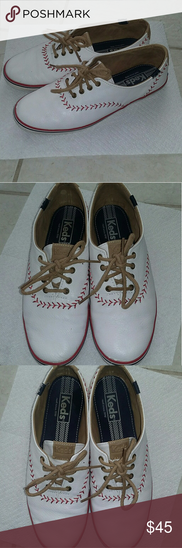 8d90ec21b6701 Keds Champion Pennant Leather Baseball Shoes These are used