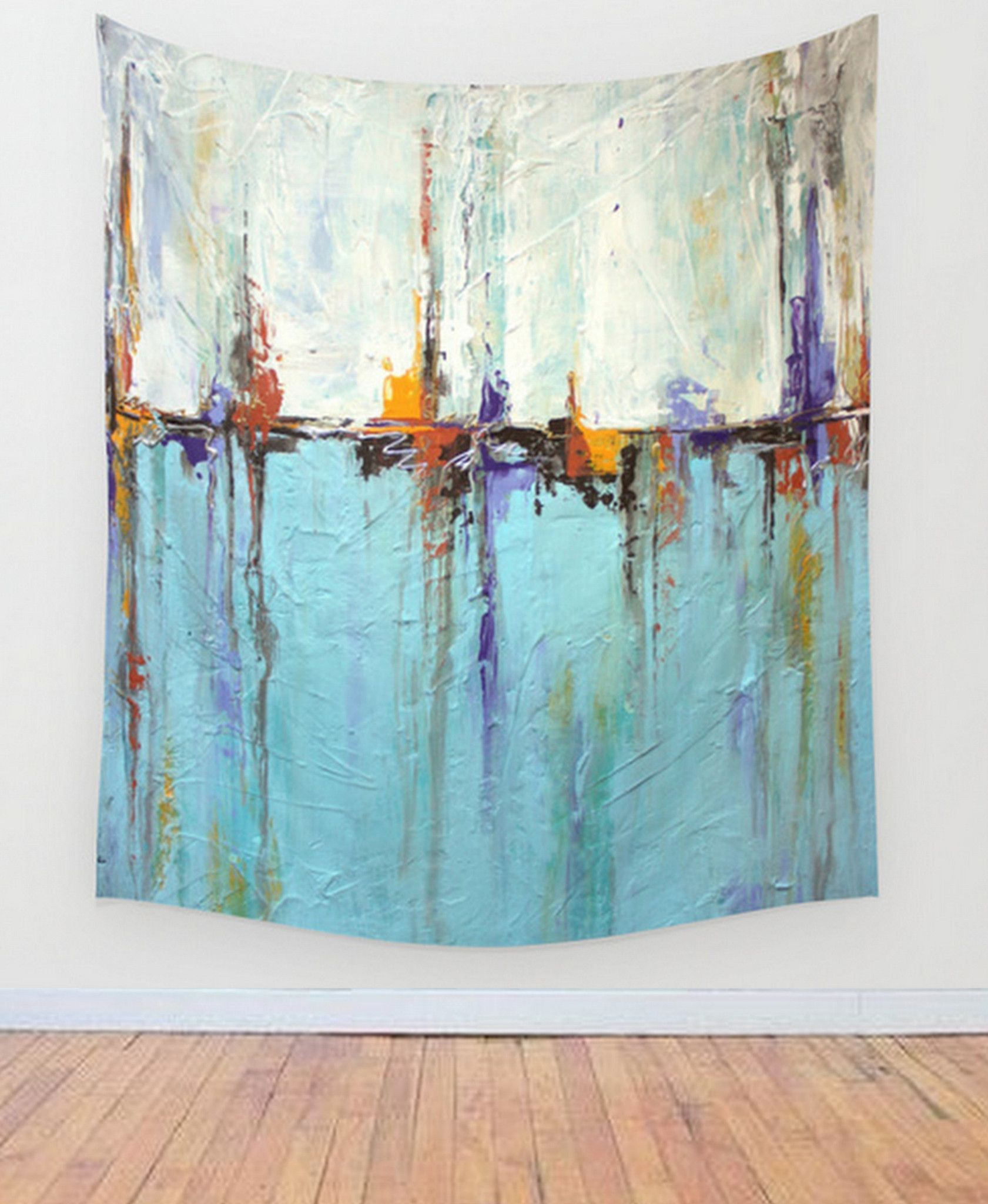 Ocean wall tapestry  white and blue decor abstract seascape also rh pinterest