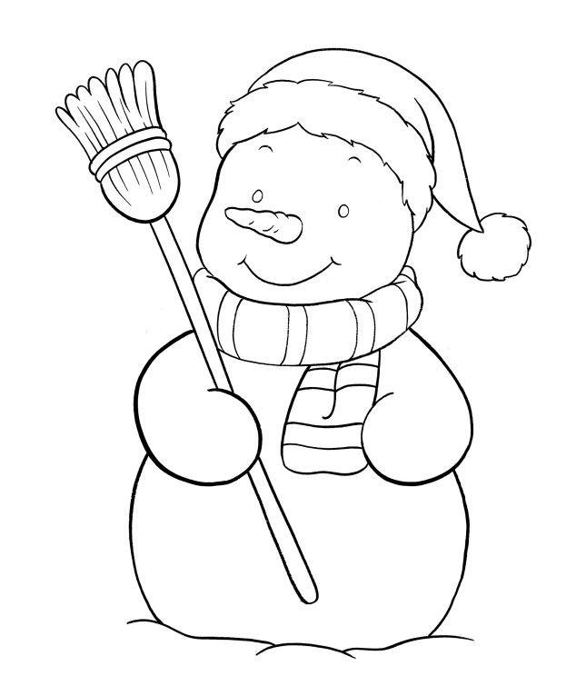 Pupazzo Di Neve Disegno Per Bambini