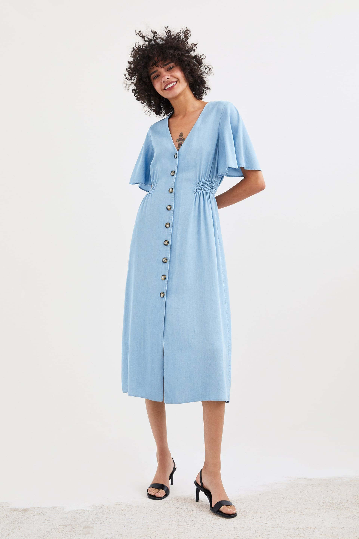 buttoned dress - view all-dresses-trf | zara united kingdom