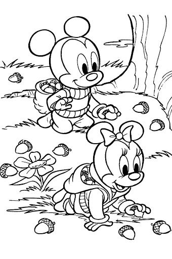 Coloring Sheet Mickey Mouse : Coloring sheets of baby mickey mouse baby mickey and minnie