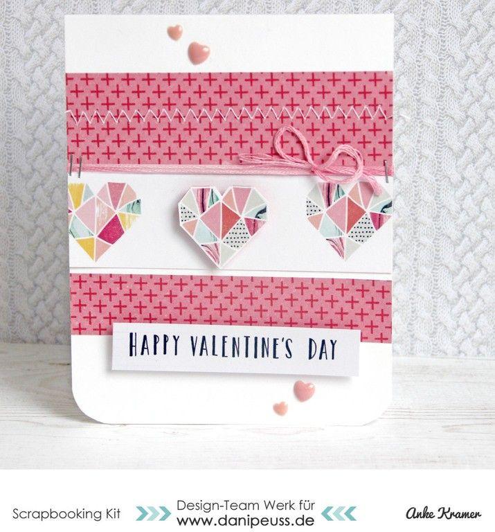 3 Herzige Karten Zum Valentinstag Dani Peuss Februarkit Karten
