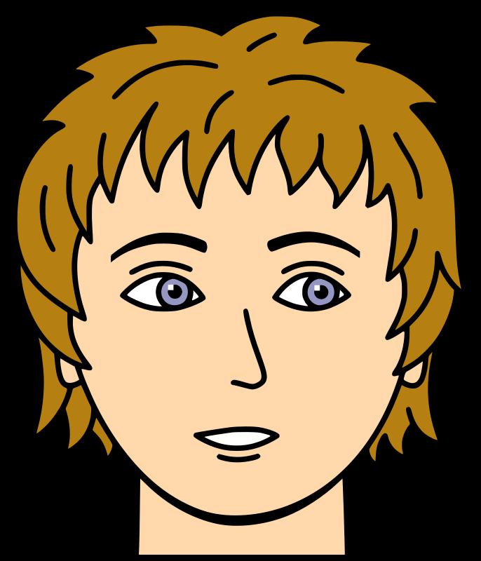 Clipart - Face 1 Colour Cartoon Styles, Simple Cartoon, Clip Art