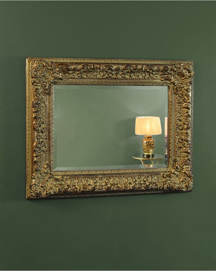 Corehouse Gold Mirror With Antiqued Ornate Frame | MIRRORS ...