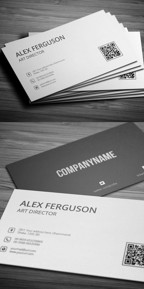 Minimal Business Card Con Imagenes Tarjetas De Presentacion