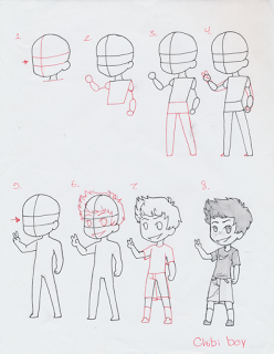 Manga Interest Chibi Boy Standing How To Draw A Chibi Boy Mangainterest Blogspot Com Chibi Drawings Chibi Body Chibi