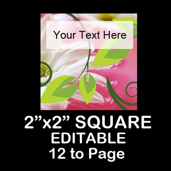 DAISY LEAF Editable Instant Download 2X2 by OntheDownlowd on Etsy