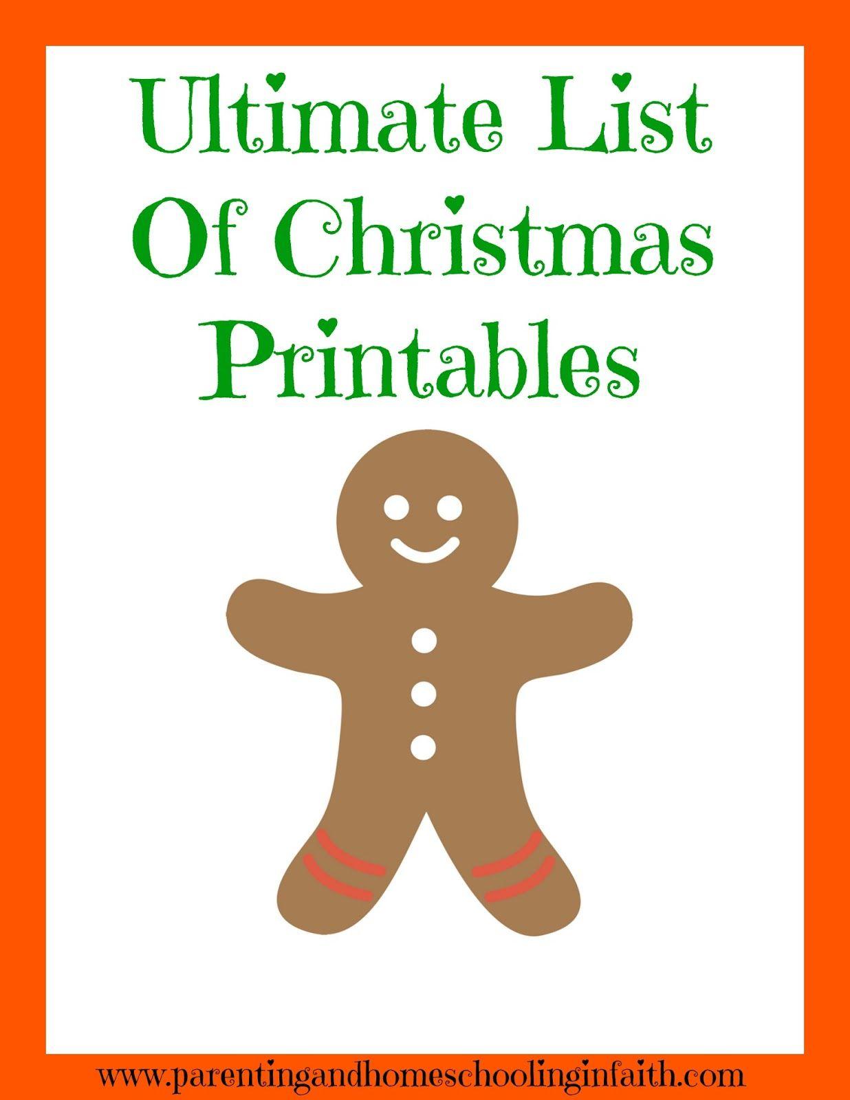 The Ultimate List of Christmas Printables For Kids