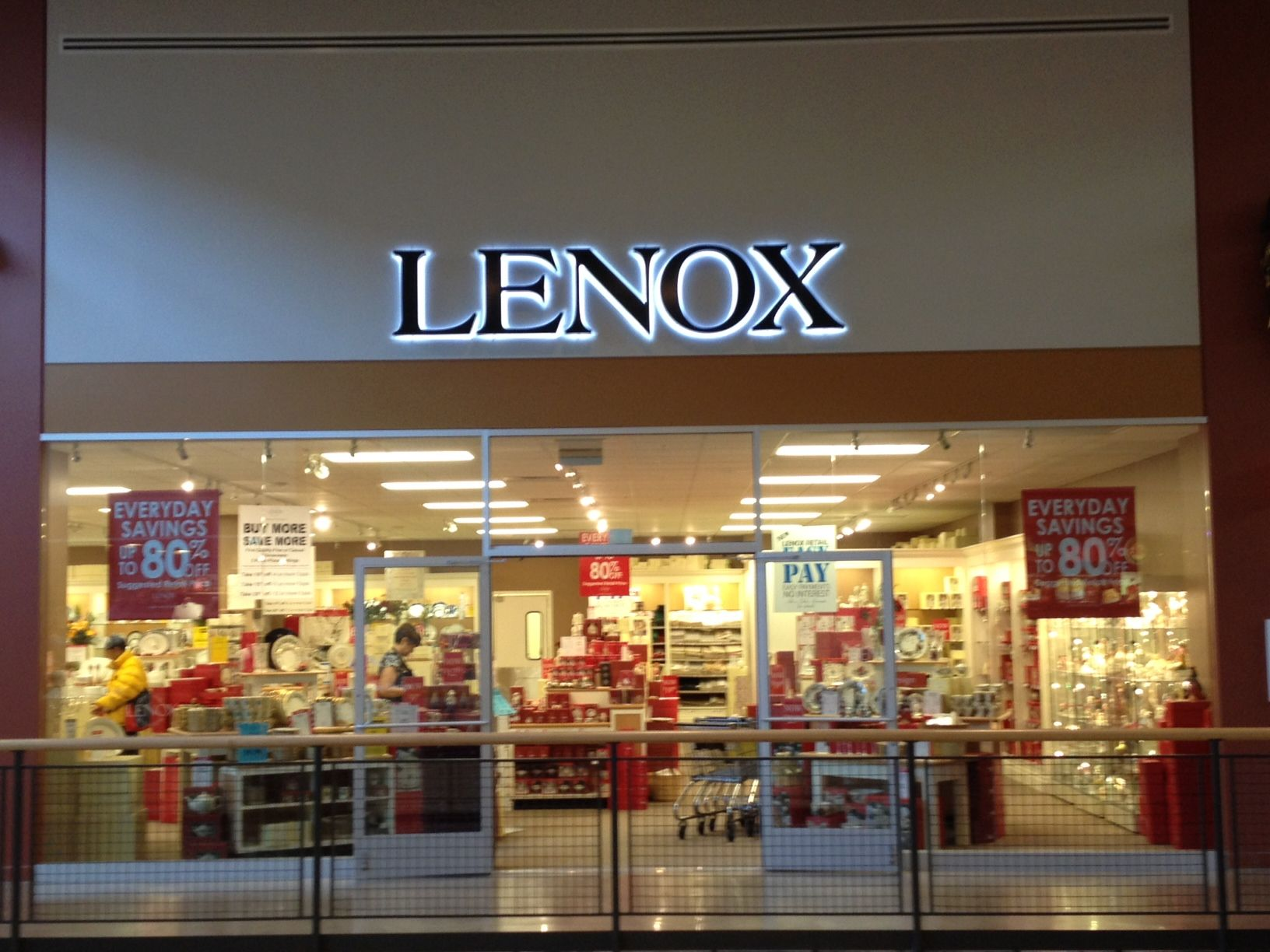 Lenox Outlet Store. Lenox, Suggested retail price