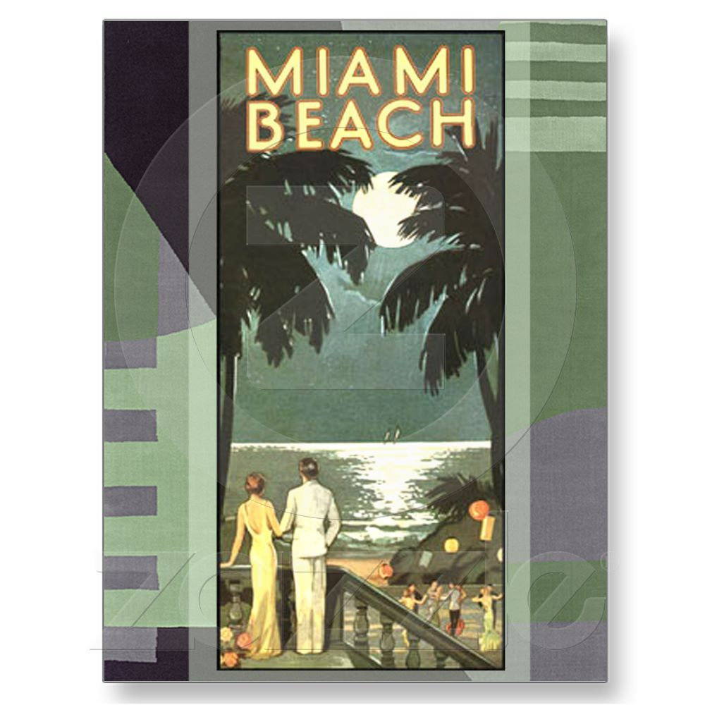 Art Deco Vintage Miami Beach Postcard From Zazzle Com Poster Art Posters Art Prints Vintage Posters
