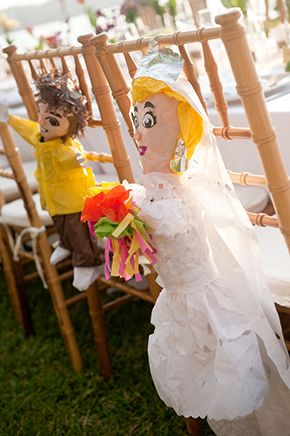 The Couple Had Pinatas Made For Themselves Photo By Http Www Jarrudaphotography Com Wedding Pinata Latin Inspired Wedding Bride Groom Photos