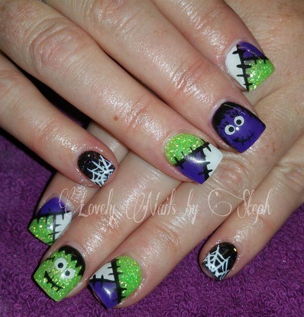 day 304 happy halloween nail art