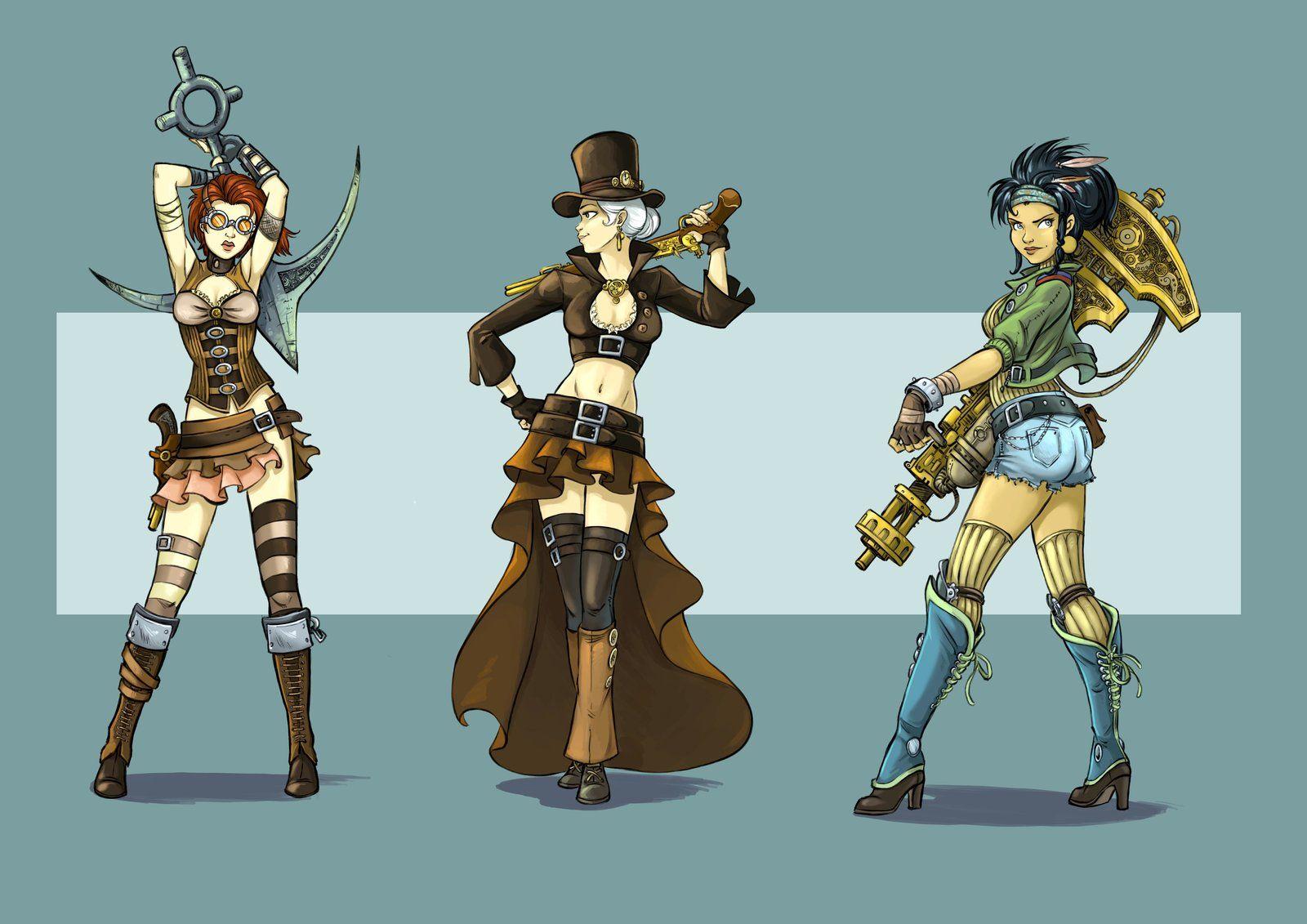 Character design steampunk, Diane Fayolle  . #steampunk #victorian #Art #gosstudio  .  ★ We recommend Gift Shop: http://www.zazzle.com/vintagestylestudio ★