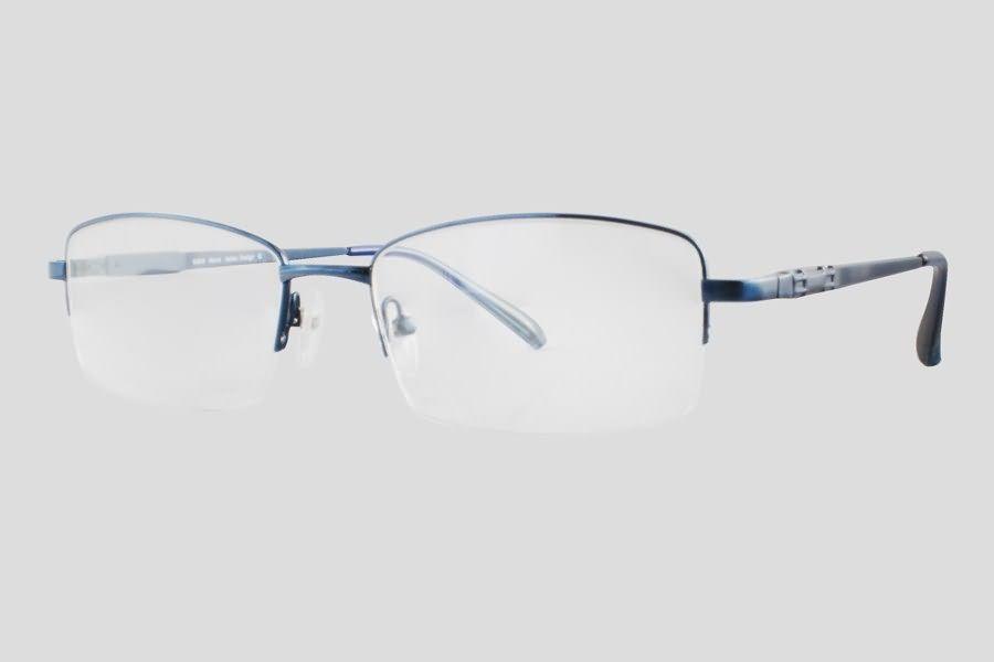 #Brillen van Nisi. Dit is de Ballast (Art. nr. F10.417MBU), complete bril vanaf € 19,90. #Montuur van blauw monel. Verkrijgbaar in meerdere kleuren.