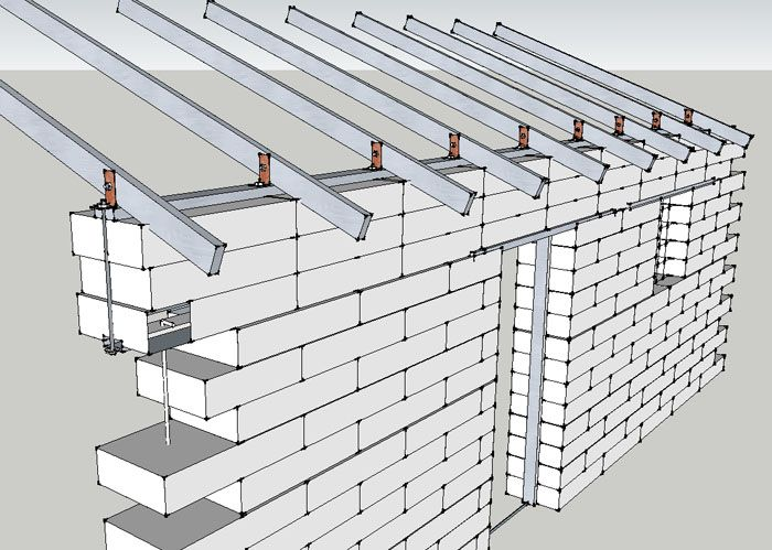 Article about an alternative bond beam for straight, vertical walls ...