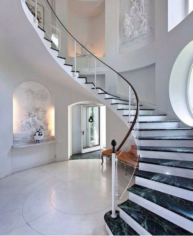 Wrap around staircases that make a huge statement