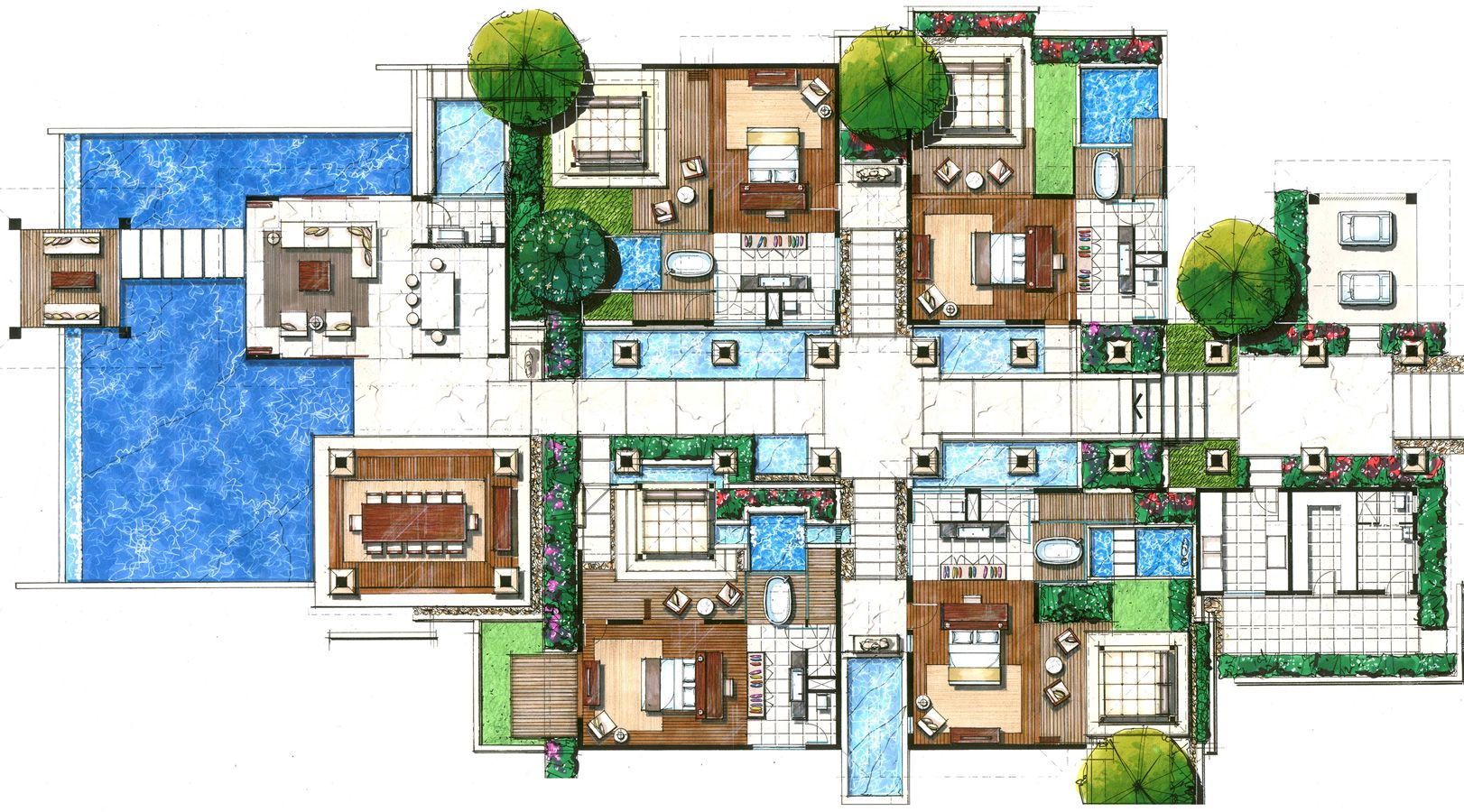 Villas floor plans floor plans villas resorts joy for Hotel plan design