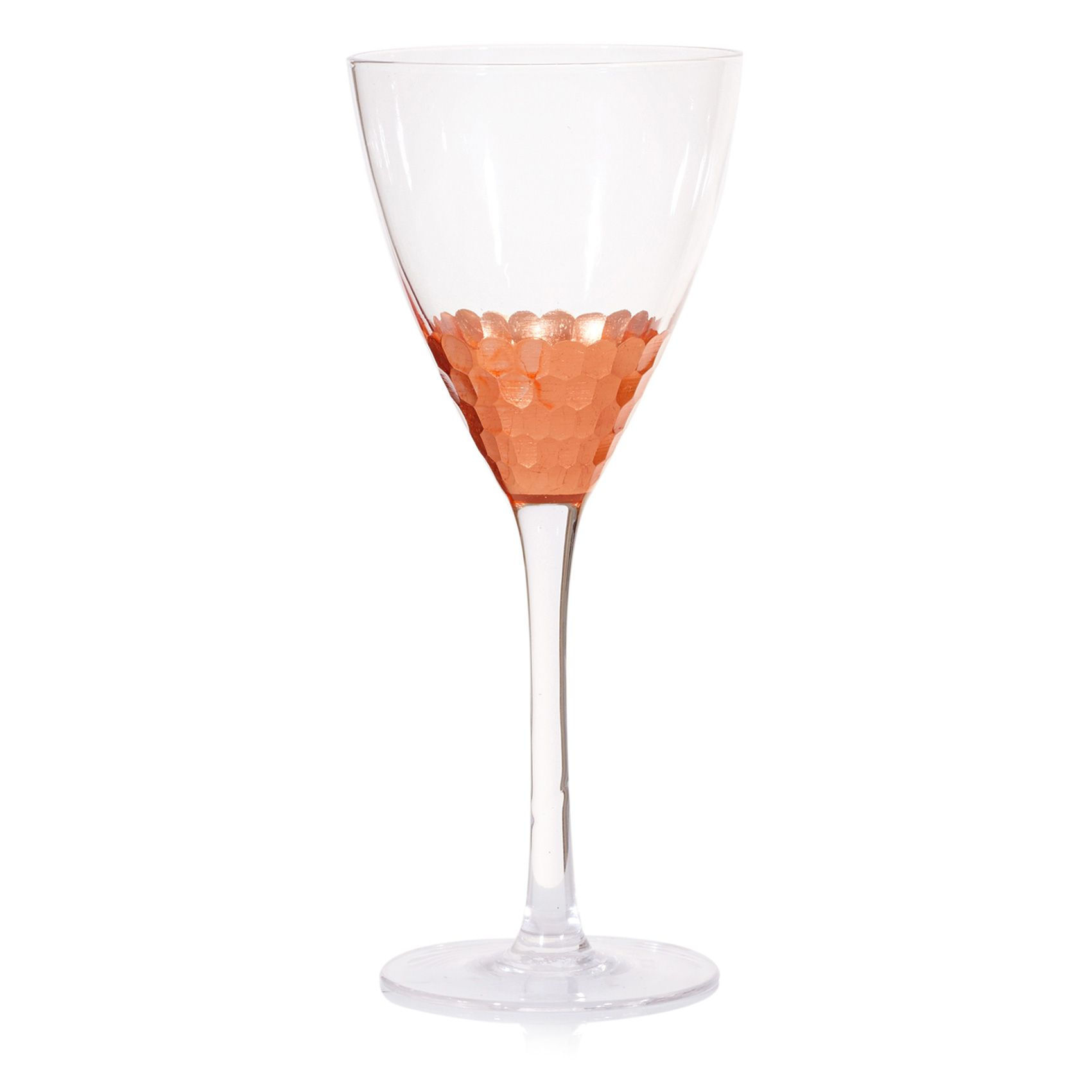 Buy The Copper Honeycomb Wine Glass At Oliver Bonas. Enjoy Free UK Standard  Delivery For Home Design Ideas