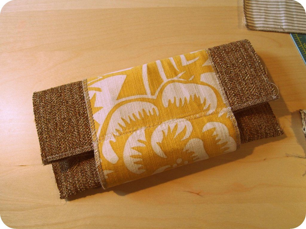 Fold over clutch I made out of fabric swatches