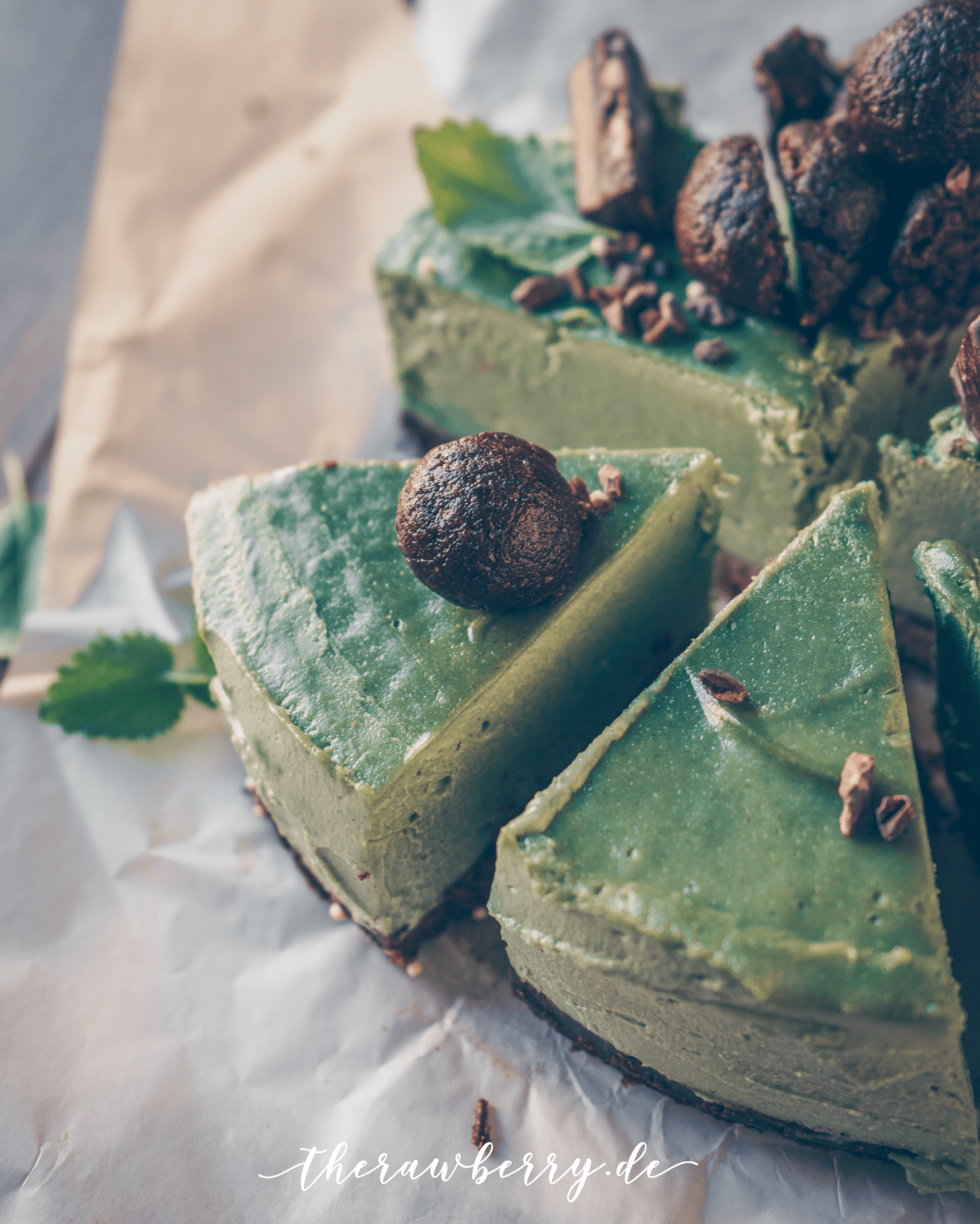 Kuchen Gluten Und Laktosefrei Mint And Chocolate Raw Cheesecake Vegan Gf Sf Rezept From