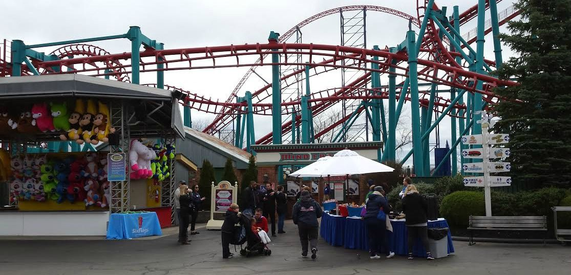 Six Flags New England Is Now Open First Ride On Galactic Attack New England Galactic Riding