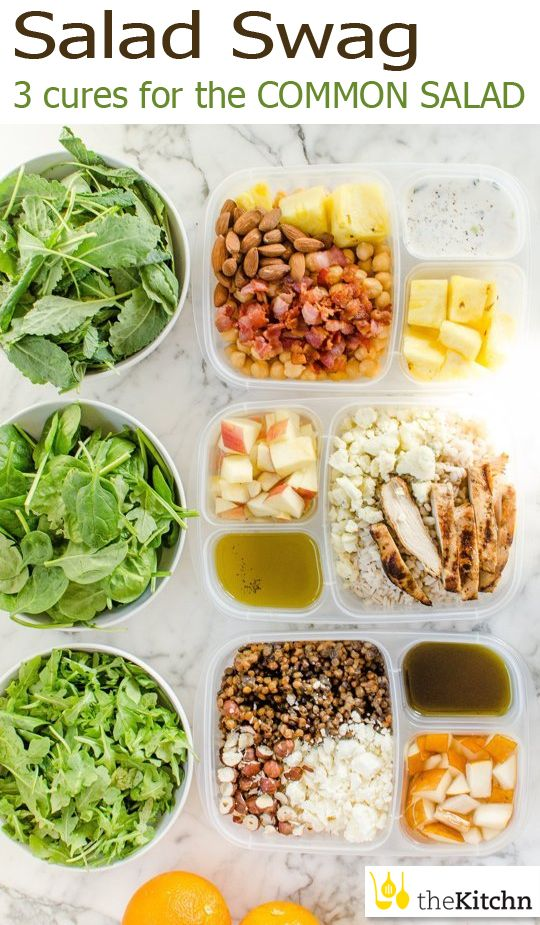 TheKitchn.com: Make salad the star of your lunch box - The Frenchie Lentil, The Bleu Apple & The Hawaiian!