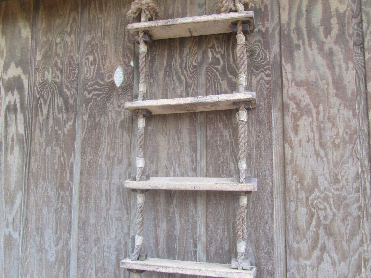 Vintage ladder rope ladder wall shelf boat ladder display vintage ladder rope ladder wall shelf boat ladder display shelf wall amipublicfo Gallery