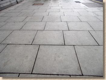Quarter Offset Plain Concrete Street Slab Pavers