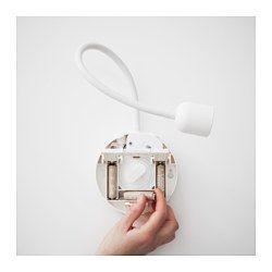 BLÅVIK Led-wandlamp, op batterijen wit - Scheren, Wandlamp en LED