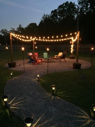 Photo of DIY Fire Pit and Seating Area