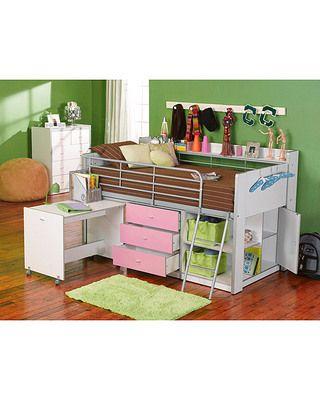 walmart charleston storage loft bed with desk white kiddos